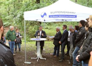 Ortstermin Wupperverband 18. August 2015, Foto: Bernd Henkel