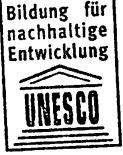 """Ausschnitt Unesco Stempel """"Nachhaltigkeit lernen"""" Nov 2015"""